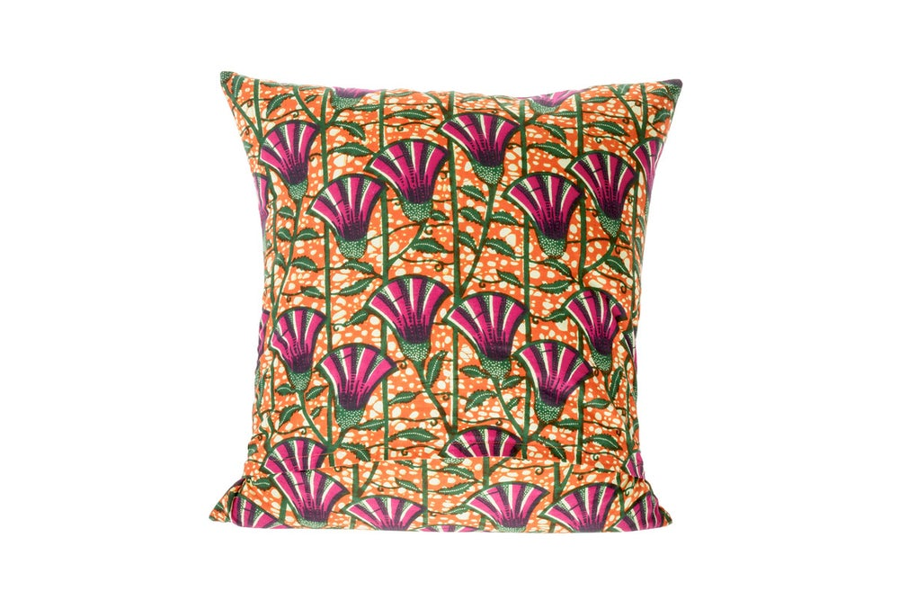 Image of African wax print purple - cushion cover