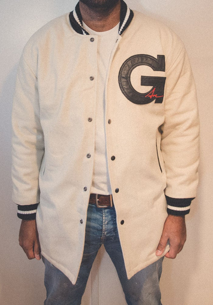Image of Fishtail Varsity Jacket - Raw wool