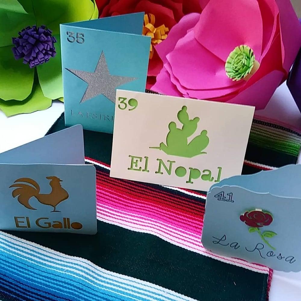 Image of Loteria handmade cards