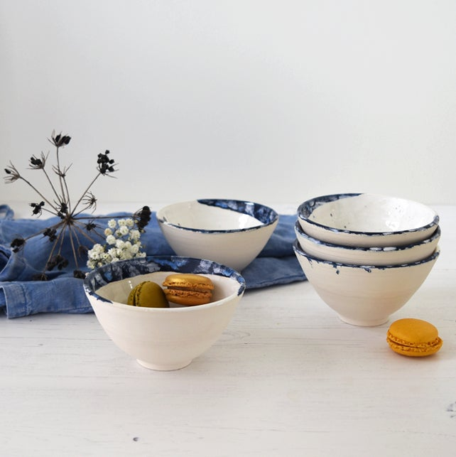Image of Blue + White Bowl