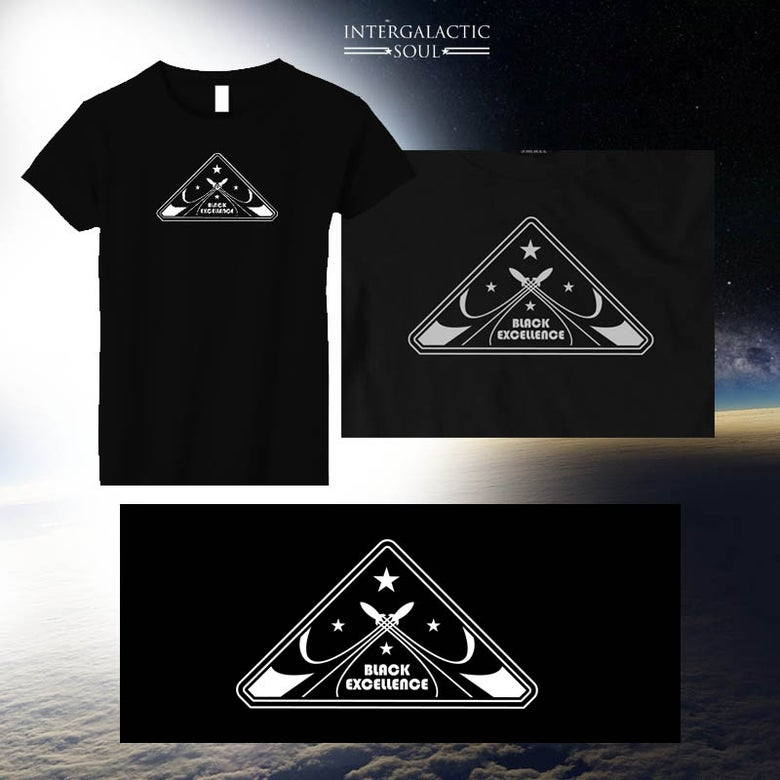 Image of women's B.E. t-shirt intergalactic soul