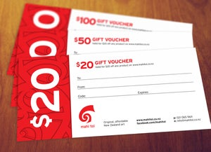 Image of Mahi toi Gift voucher