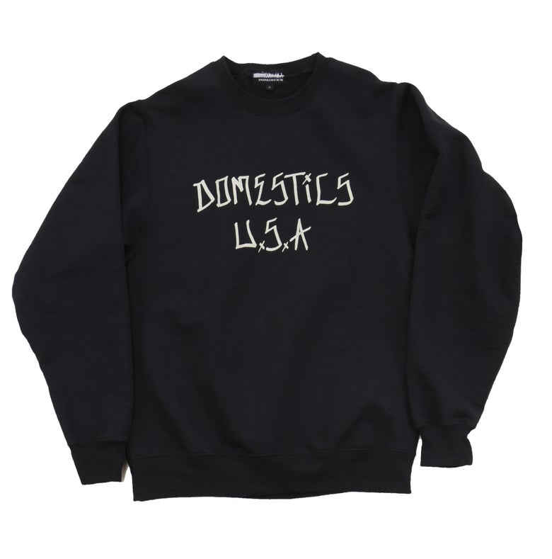 Image of DOMEstics. Black Crew Neck Sweatshirt.