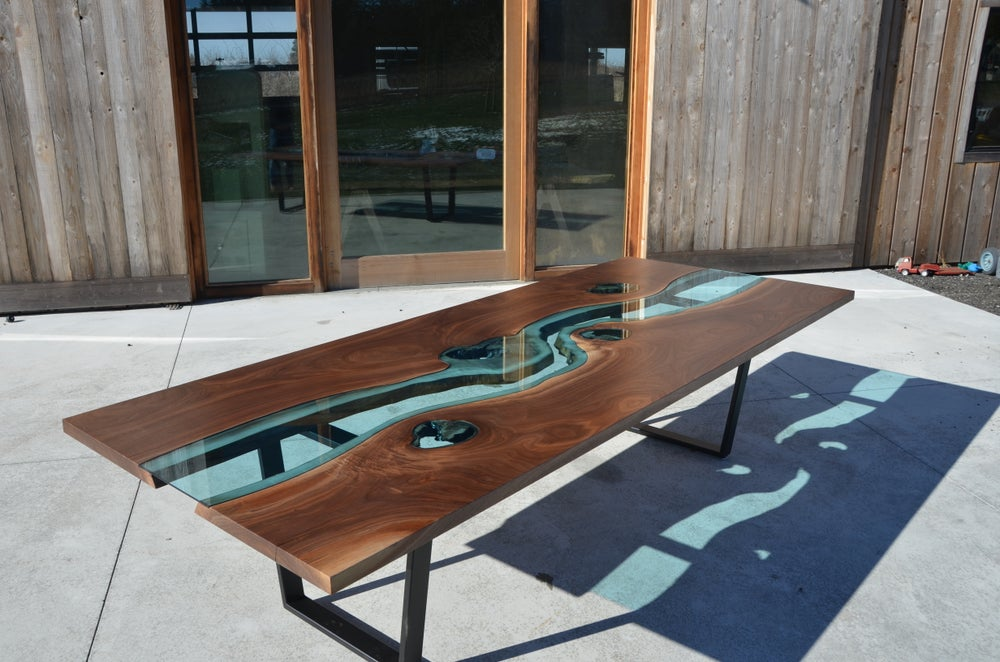 Image of 10' black walnut river® dining table