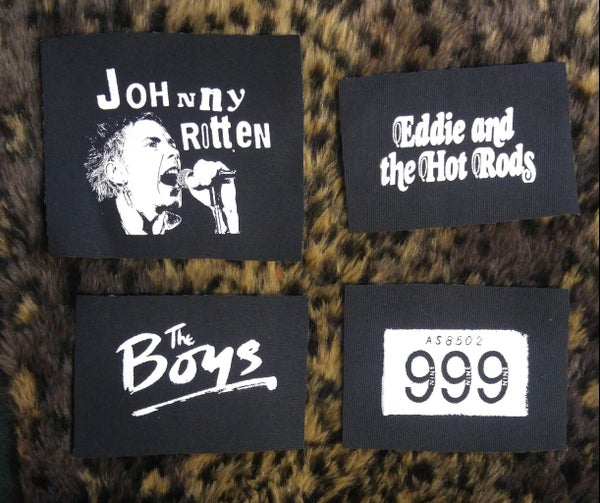 Image of Pick 1 patch - Johnny Rotten, 999, The Boys, Eddie and the Hot Rods
