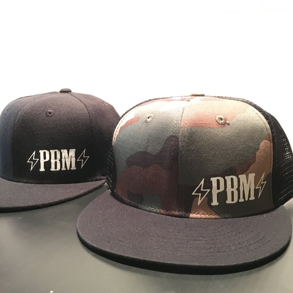 Image of ⚡️PBM⚡️ Logo Snap-back hats