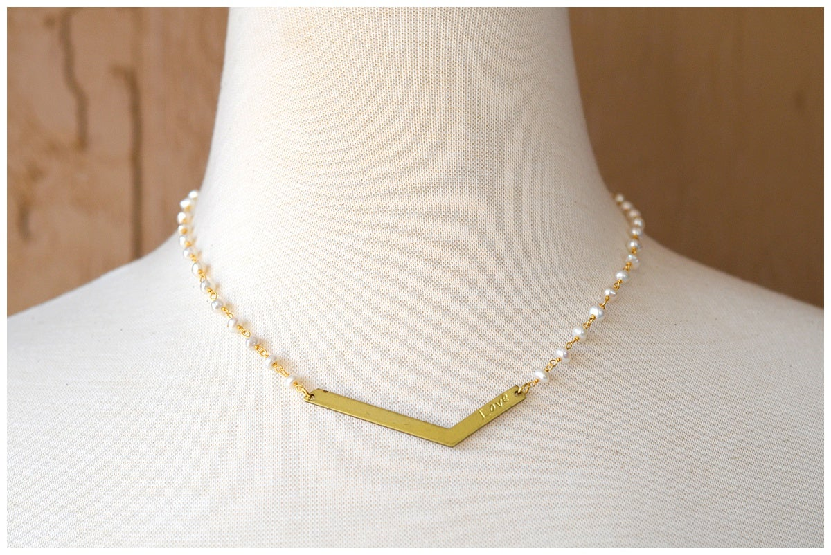 Image of Pearl Love Necklace