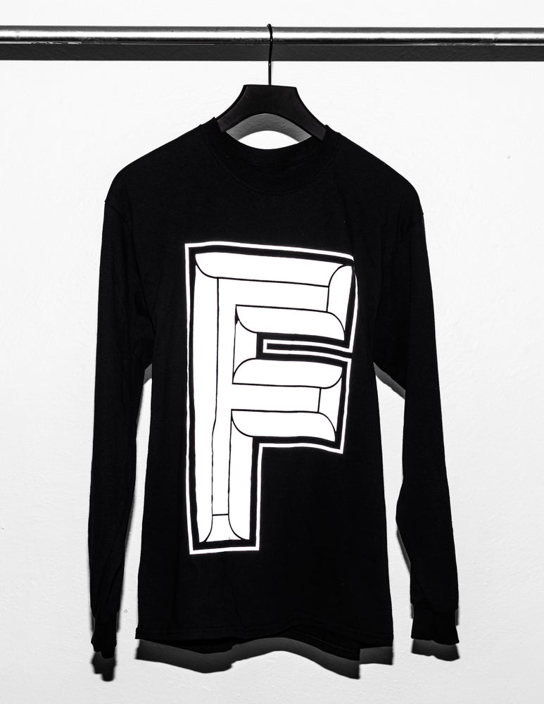 Image of F-Logo Black Long Sleeve