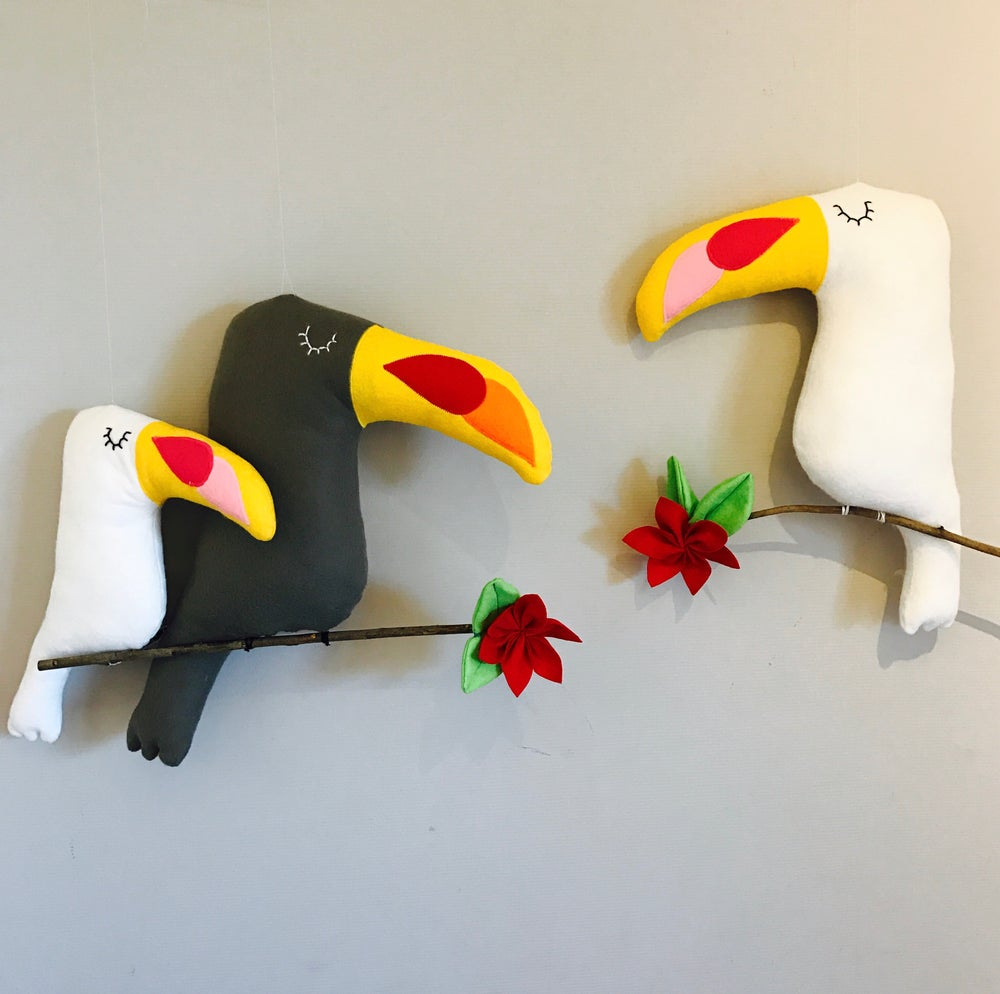 Oiseau décoratif en feutrine | O fil du reve on