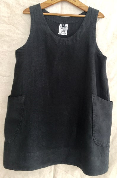 Image of linen sleeveless tunic
