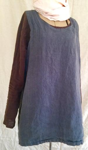 Image of linen long sleeve blouse- lighter weight