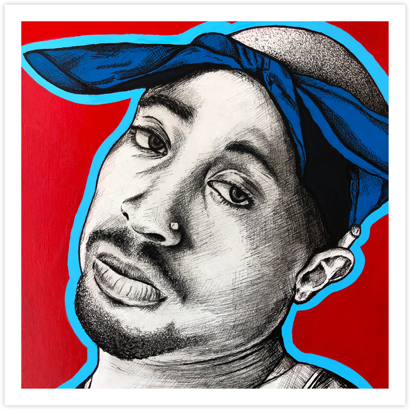 Image of Tupac - Fine Art Print