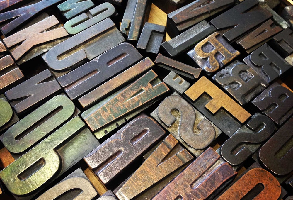 Image of INTRODUCTION TO LETTERPRESS.  Sat. June 9th. 10am - 4pm. 2018.