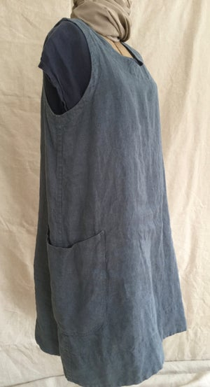 Image of long linen jumper