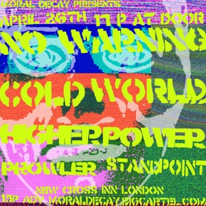 Image of No Warning, Cold World, Higher Power + more in LONDON 26/04/18 @ New Cross Inn