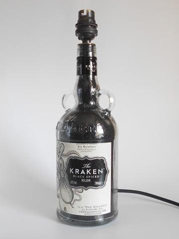 Image of KRAKEN RUM Bottle Lamp