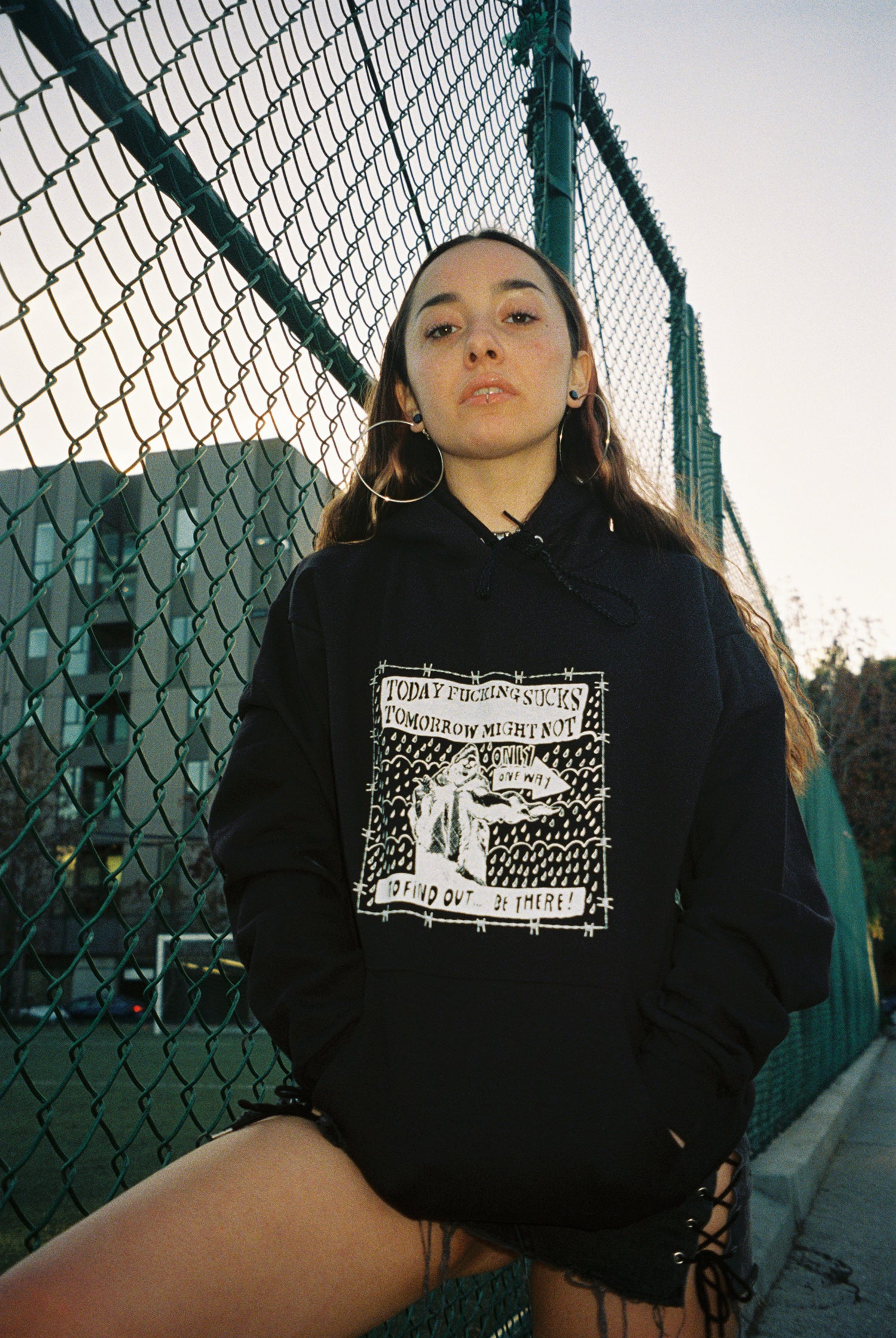 Image of Today fucking sucks, tomorrow might not hoodie (PRE ORDER)