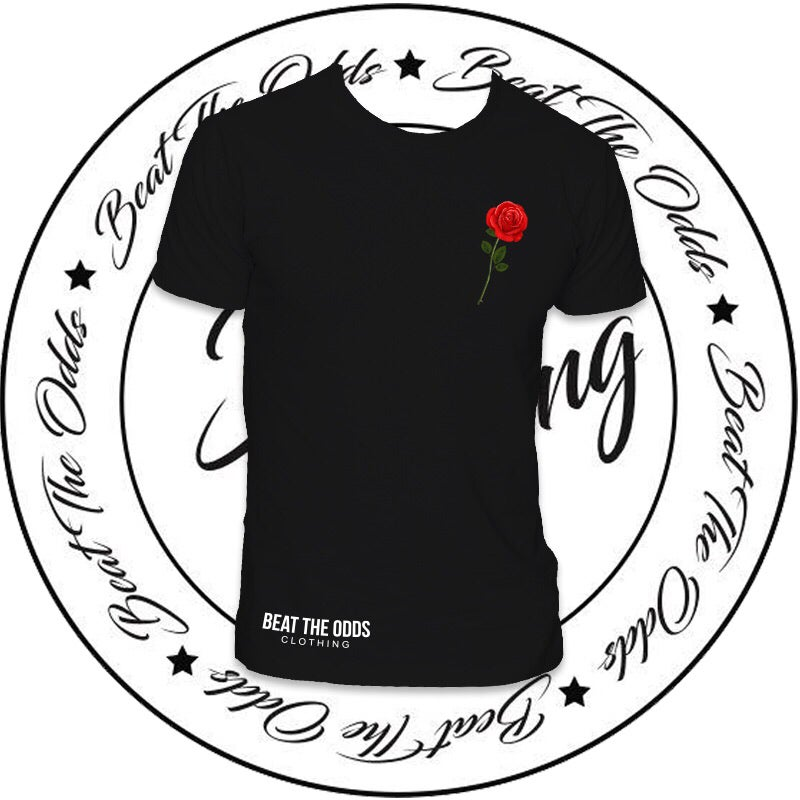 Image of Men's Rose Tee (Black)
