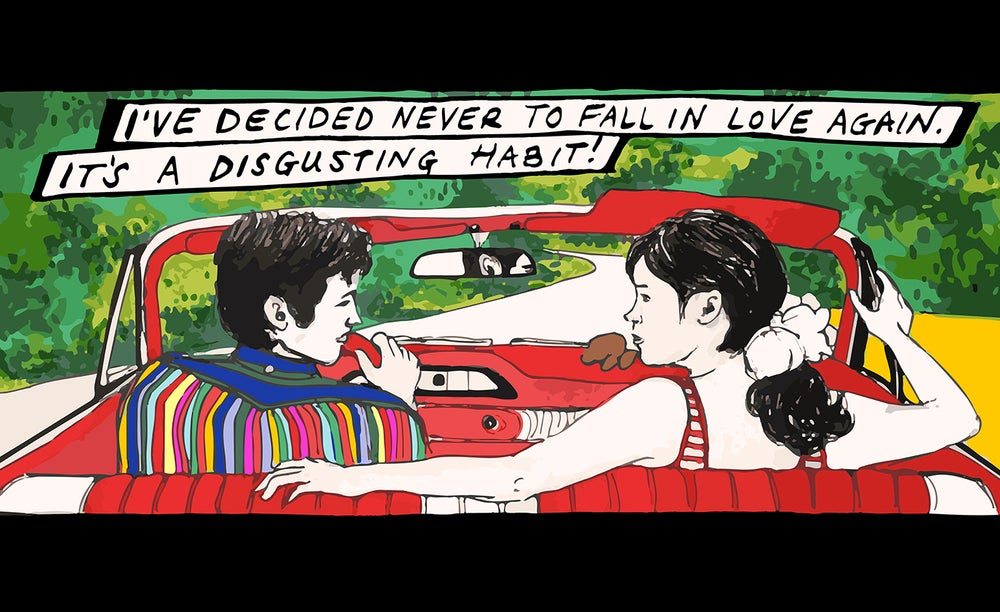 """Image of """"A Disgusting Habit"""" Pierrot le Fou Print"""