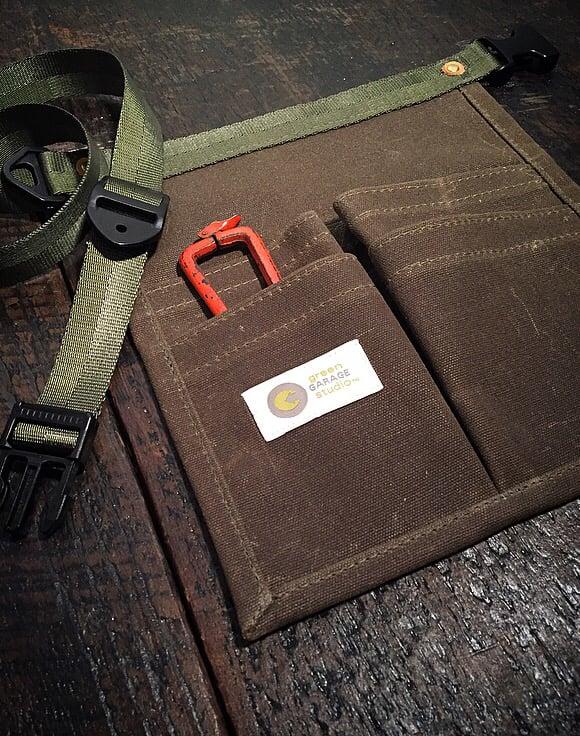 Garden Pouch    Handmade 4 pocket Wax Duck Utility Pouch