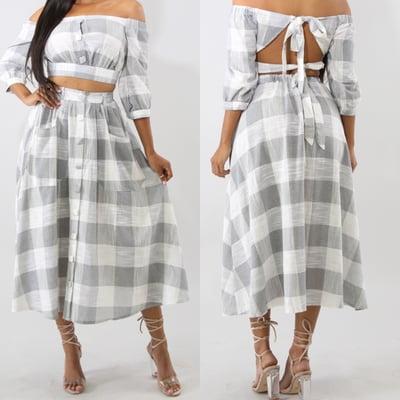 Image of Ana skirt set