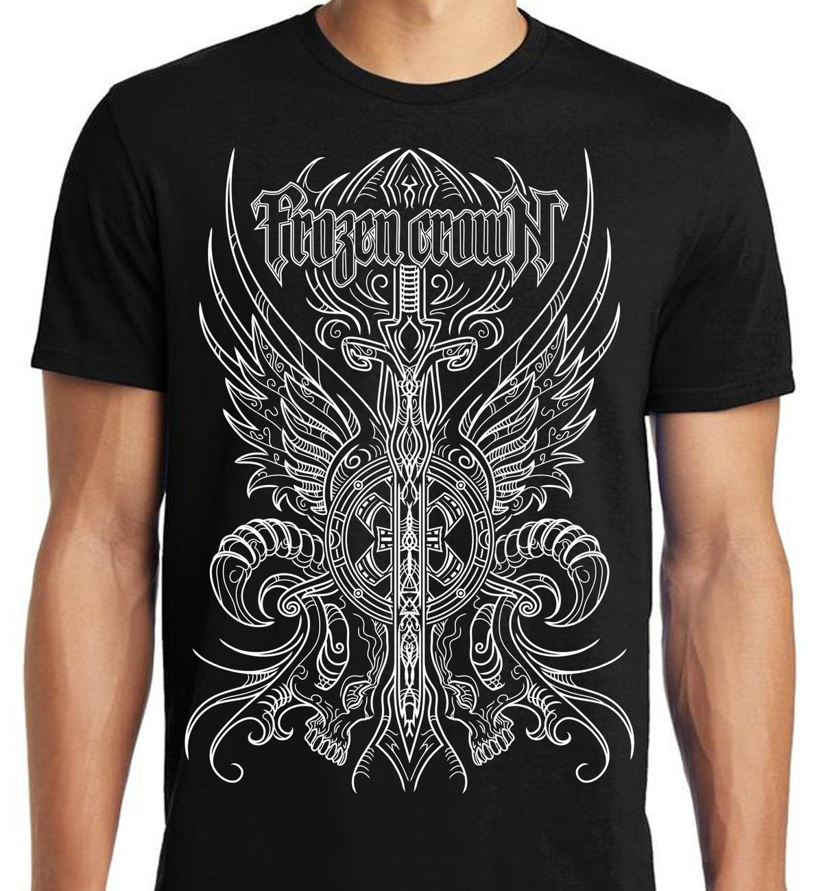 Image of Crest T-SHIRT Black