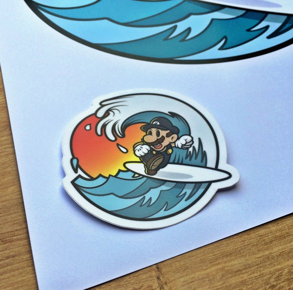 Image of PIPELINE! LIMITED EDITION PRINT WITH FREE STICKER!