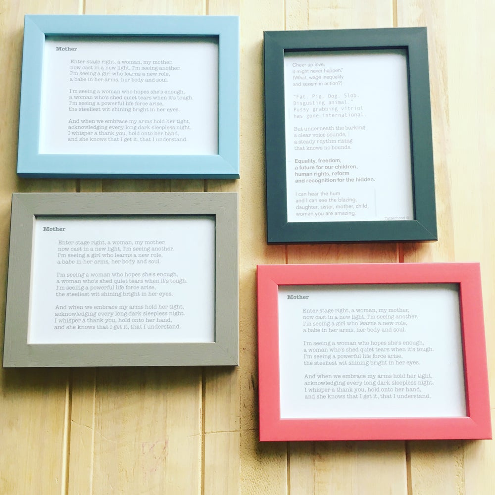 Image of *Multi* Framed Poem Postcards (7x5 size card) Choose poem in options x