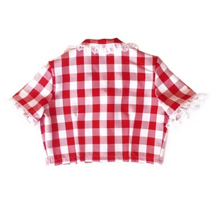 Image of DIXIE BOW SHIRT (CHERRY)