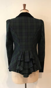 Image of Tartan and velvet Bustle Jacket