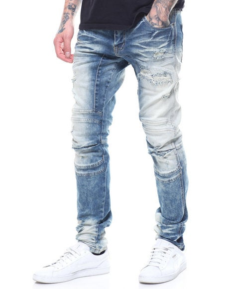 Image of RIPPED 3D KNEE JEANS