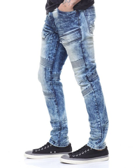 Image of SLIM FIT MOTO JEANS