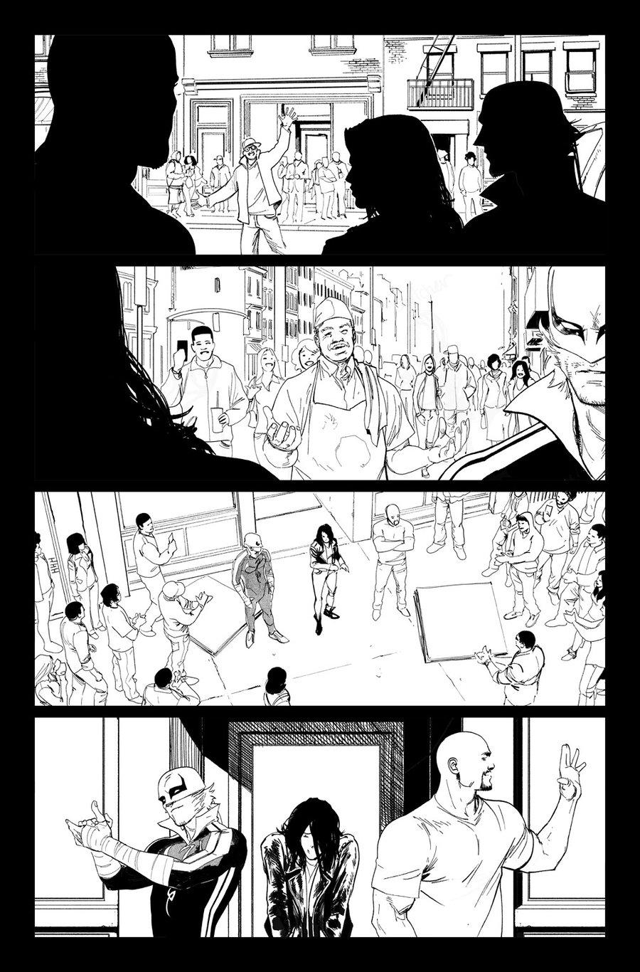 Image of DEFENDERS #10, p.09 ARTIST'S PROOF