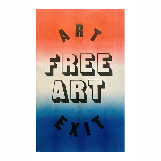 Image of Free Art Poster Red & Blue