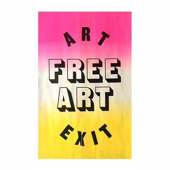Image of Free Art Poster Pink & Yellow