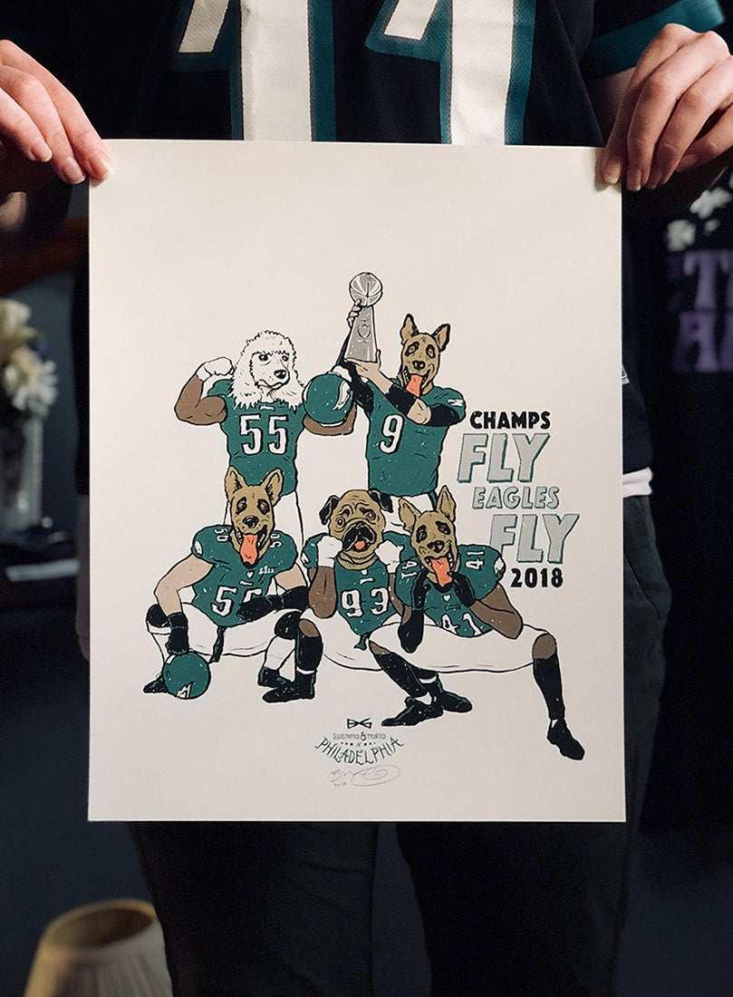 Image of Birds 2018 Champs print