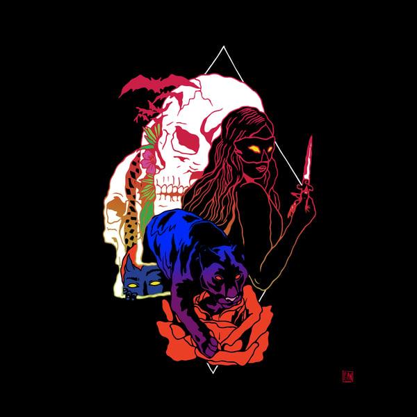 Image of Night Rose print