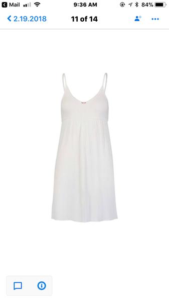 Image of White rib babydoll chemise