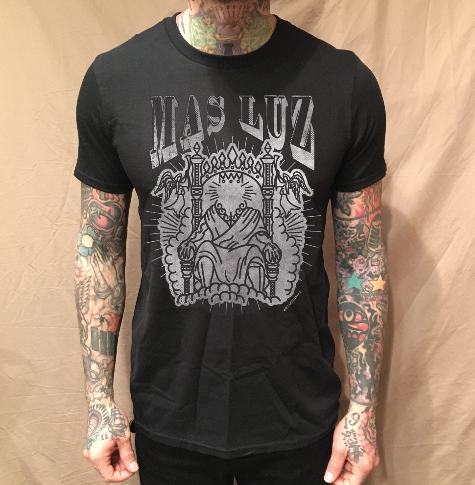 Image of BRIGHT THRONE BLACK TEE