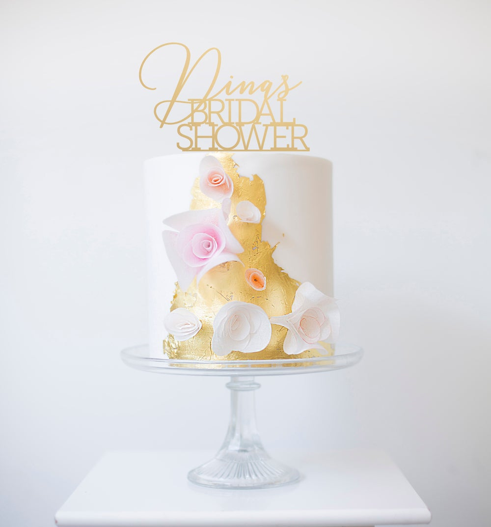 Image of Custom Bridal Shower Calligraphy