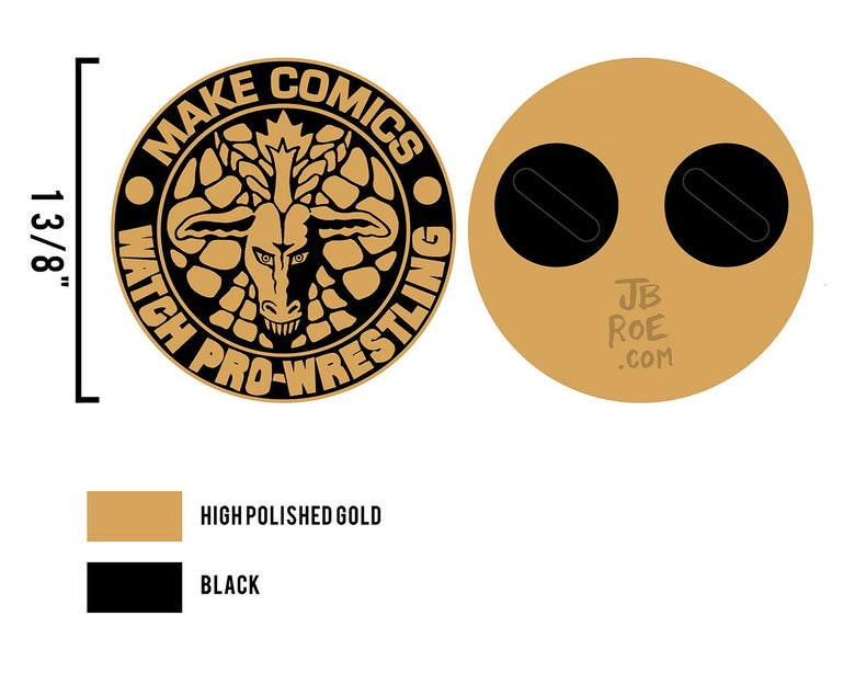 Image of Make Comics, Watch Pro Wrestling Lapel Pin V2