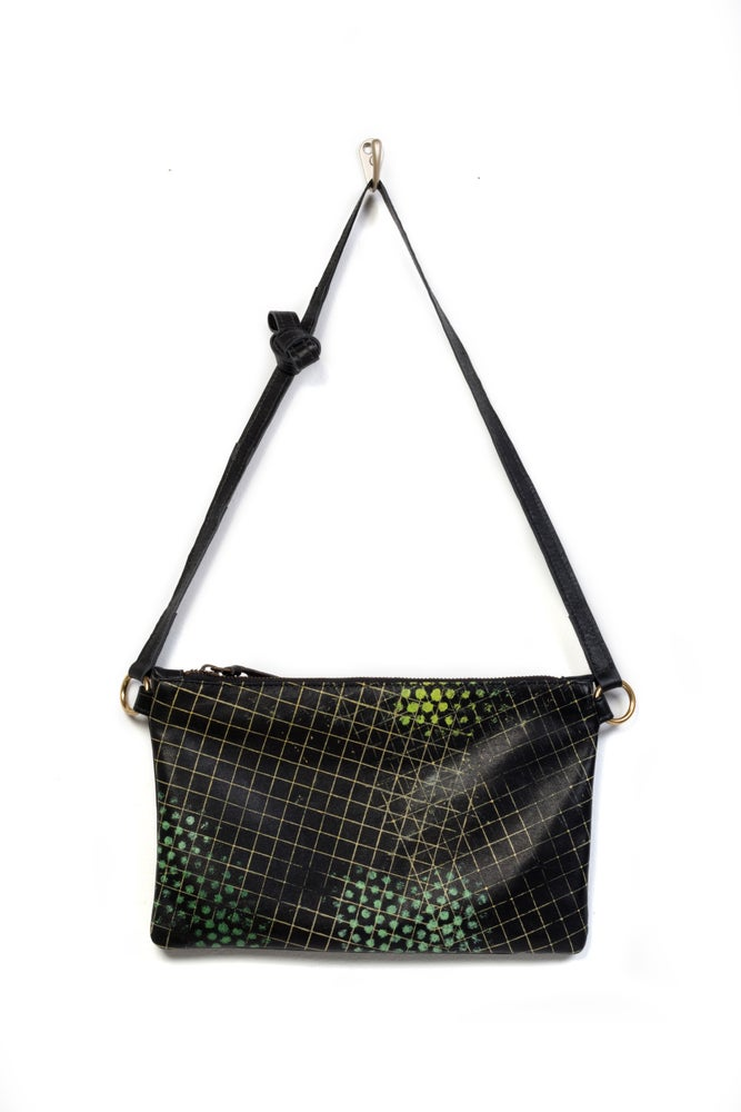 Image of Chelsea Crossbody Bag w. green dot print