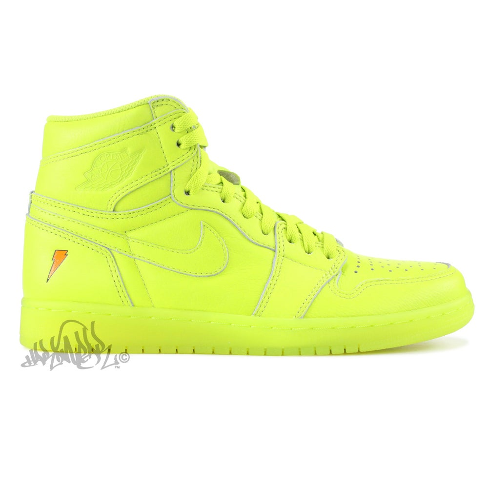 Image of AIR JORDAN 1 HI OG G8RD - LEMON LIME - AJ5997 345