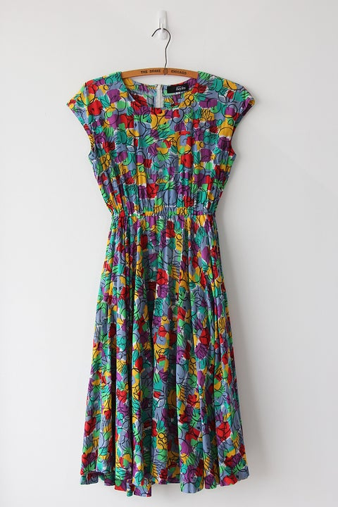 Image of SOLD Rainbow Tutti Frutti Dress