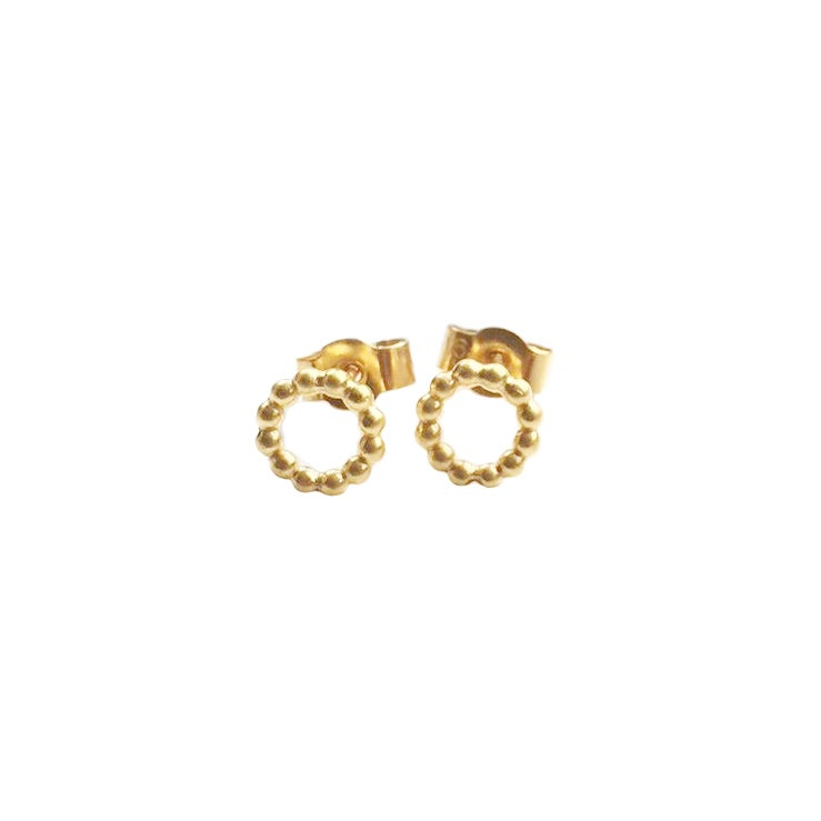 Image of Mini gold circle studs