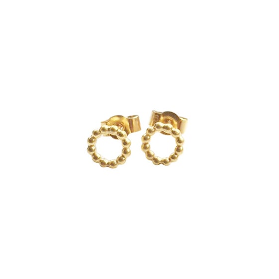 Image of Gold vermeil circle studs