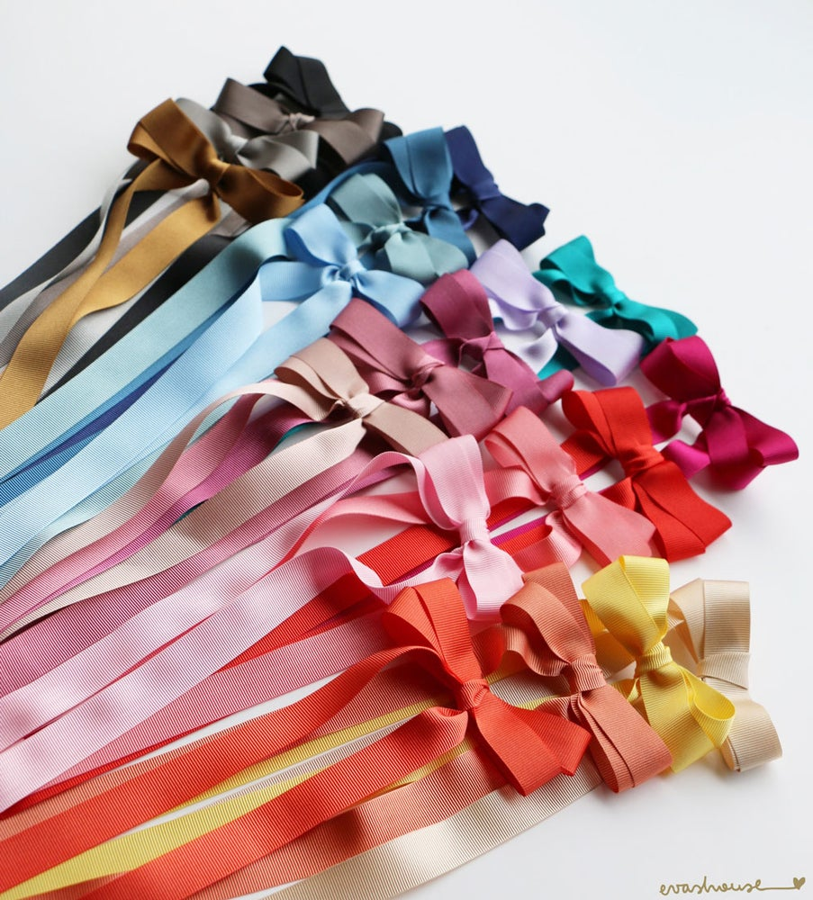 Image of Long double grosgrain bows