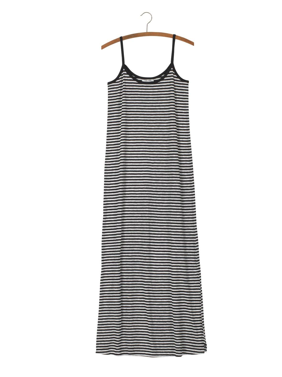 Image of Robe longue rayée coton lin DAPHNEE 89€ -60%