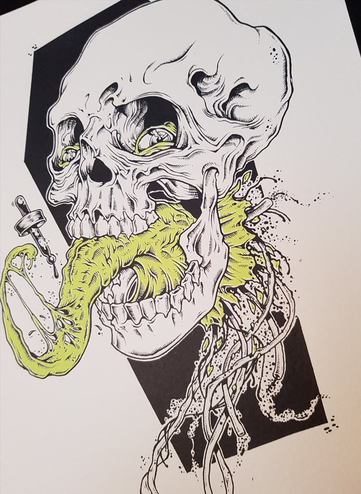 Image of TONGUESKULL A3 SCREENPRINT - JAK MCS