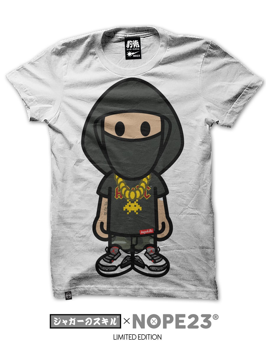 Image of JAGMAN: ORIGINAL NINJA TEE - WHITE